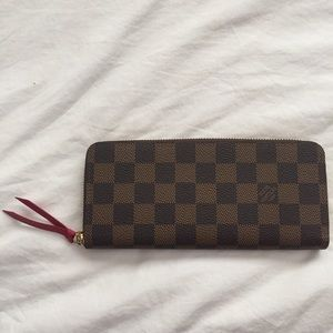 Louis Vuitton Clemence Wallet Red